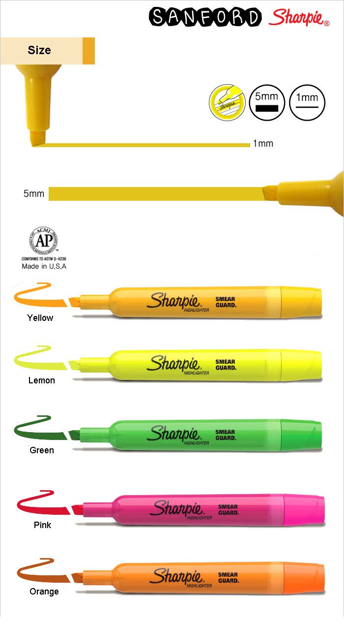 Sanford Sharpie Tank-Style Accent Highlighters