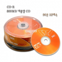 larger SKC/CD-R/ 52 Double Speed 800MB/90min/25Pieces /CAKE/Big Content