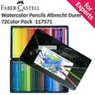 Faber-Castell Albert Durer Watercolor Pencils 72 Color Pack with Tin Case