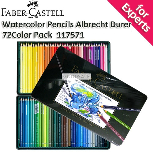 larger Faber-Castell Albert Durer Watercolor Pencils 72 Color Pack with Tin Case