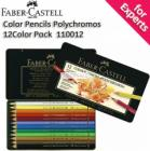 Faber-Castell Color Pencils Polychromos 12 Color Pack with Tin Case