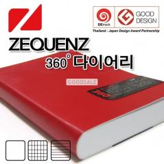 ZEQUENZ Classic Diary Note 360 Roll Up Journal A5L 14.8 x 21 x 2cm 200 Pages