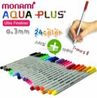 MONAMI AQUA-PLUS Markus Ultra Fineliner 0.3mm 24 Colors Quick Drying Ink