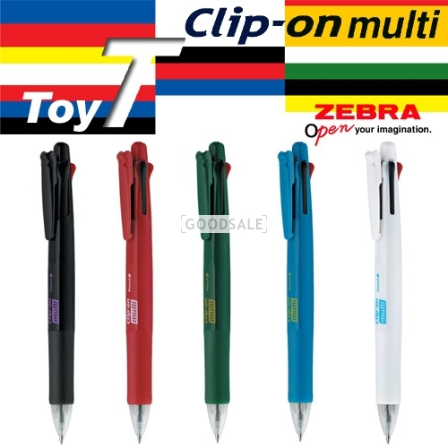 larger Brand New/ZEBRA/Clip - on mulit T (B4SA1)/4 color